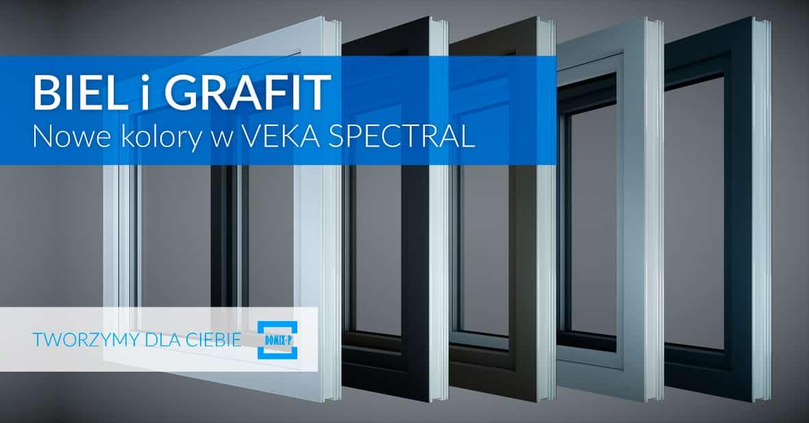 Biel I Grafit – Nowe Kolory VEKA Spectral